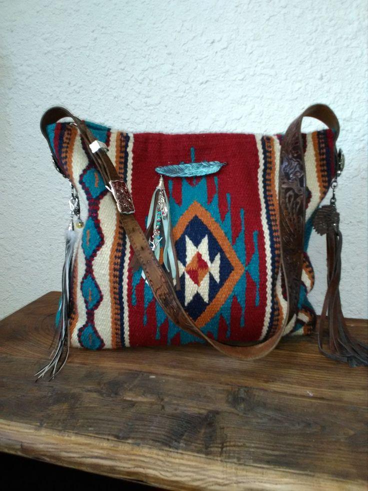 Make it your own! Custom saddle blanket bags. www.diamond57.com $75 #saddleblank…