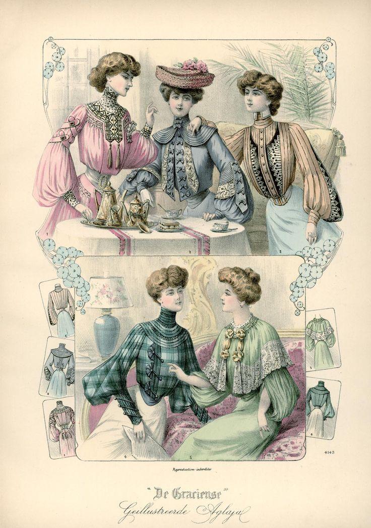 [De Gracieuse] Blouses en tailles voor jonge dames (April 1903)