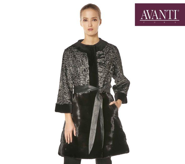 AVANTI FURS - MONICA Swakara Jacket with Mink мех шуба #avantifurs #fur #fashion #mink #swakara #luxury #musthave #мех #шуба #стиль #норка #зима #красота #мода #topfurexperts