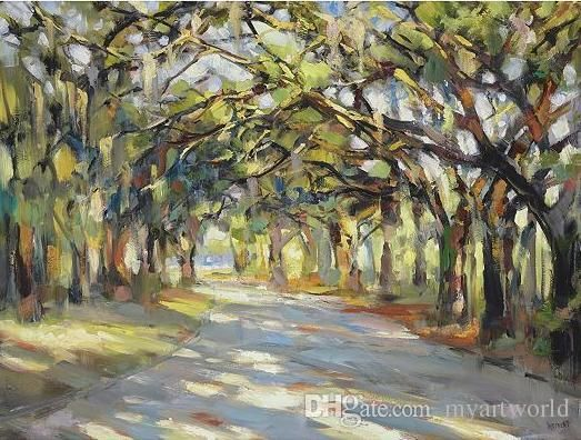 Southern Oaks Art,Pure Handpainted Landscape Art Oil Painting On High Quality Canvas.Any Customized Size Accepted Baby Nursery Wall Decals Baby Nursery Wall Stickers From Myartworld, $32.57| Dhgate.Com