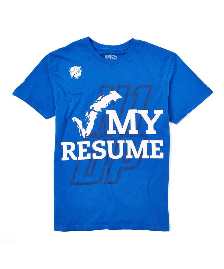 n1dp royal check my resume tee