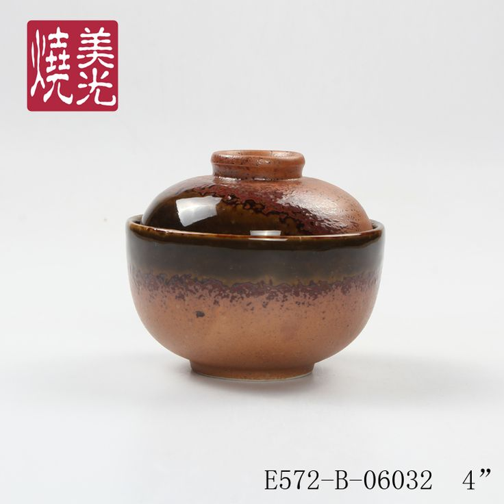 Japanese lidded bowl&porcelain bowl with lid E572-B-06032  Size: diameter 4 inch x height 4 inch