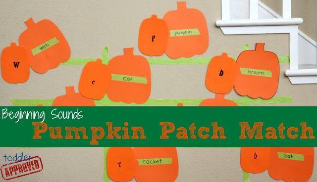 Toddler Approved!: Beginning Sounds Pumpkin Patch Match