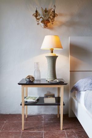 Tavolino alto doppio ripiano Linea Soft