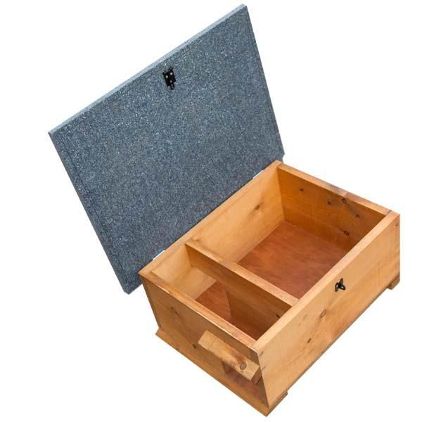 Hedgehog House | Hinged lid allows you to change bedding, predator baffle at front stops foxes scooping the hedgehog out with its paws. Encourages wild hedgehogs to choose your garden and help with slug control.
