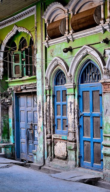 Colorful facade in Pakistan Street  by ShaukatNiazi, via Flickr