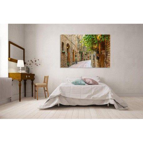 Malownicza alejka w Toskanii - nowoczesne obrazy drukowane na płótnie