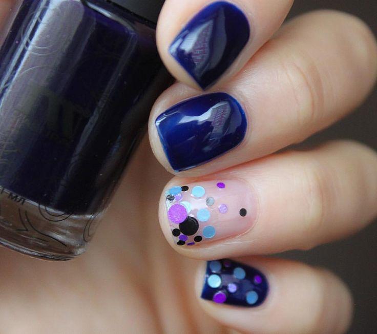 Лак из новой осенне-зимней коллекции @masura.ru Пальмовые Острова -синее желе с капелькой фиолетового в два слоя под топом #масура #masura #камифубуки + топ OPI Plumping