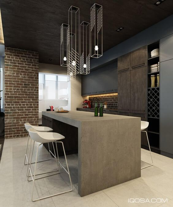 30 Modern Kitchen Design Ideas: 30 Great Examples Of Concrete Kitchens (With Images