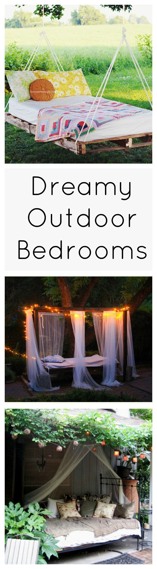Fresh air makes for a better night's sleep, so why not just go to bed outside? These gorgeous outdoor bedrooms will inspire you to create your own al fresco spot to slumber the night away or just grab a few winks on a lazy afternoon.