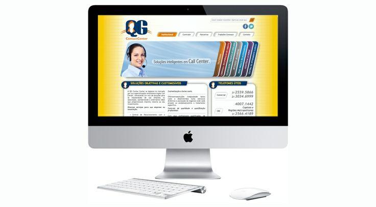 Site criado para a empresa QG CONTACT CENTER.