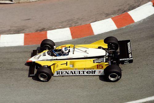 Alain Prost Renault Monaco 1982