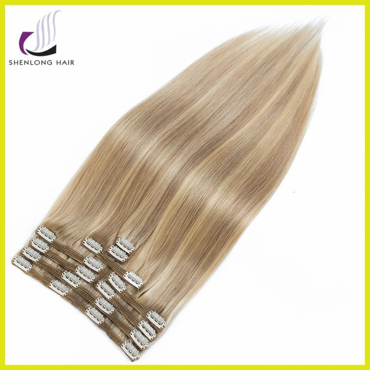 SHENLONG HAIR Peruvian Remy 100% Straight Human Hair Weaving 100g #P18/22 9pcs/set Clip In Extensions 18 inch Capelli