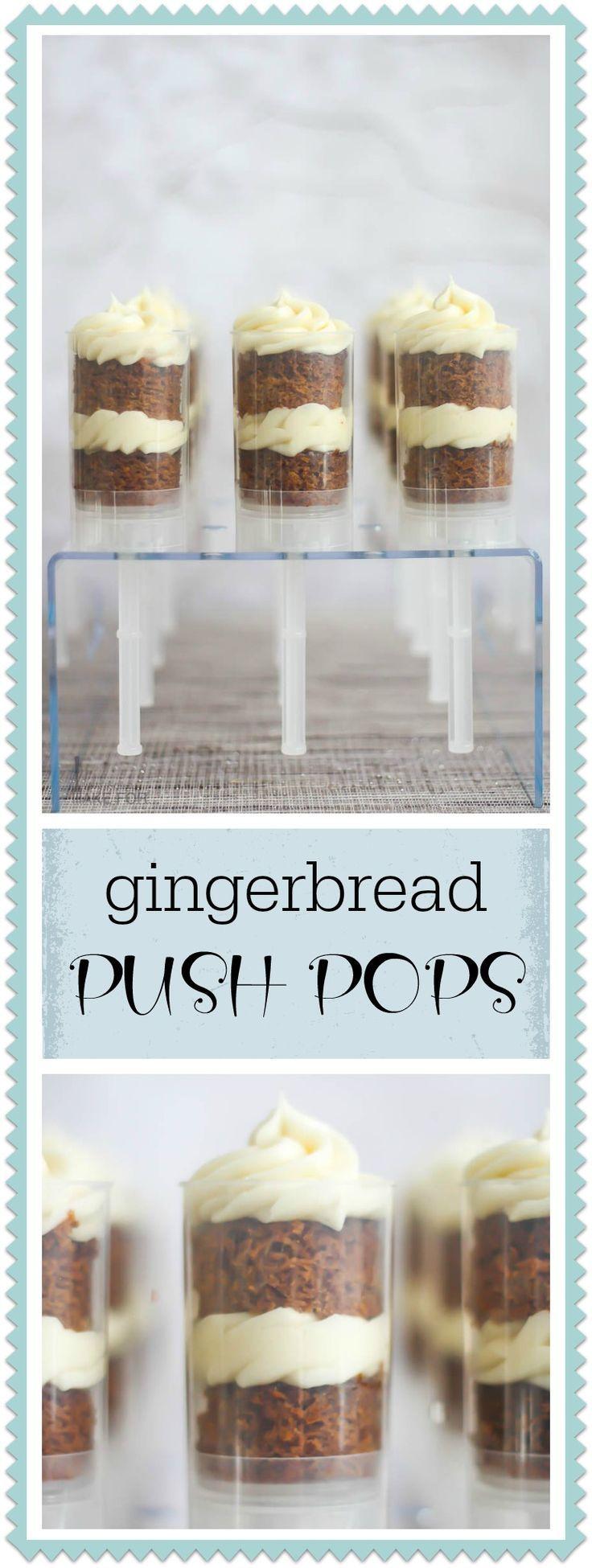 Gingerbread Push Pops