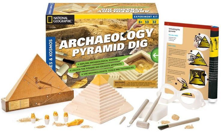 THAMES AND COSMOS  Archaeology: Pyramid Dig V 2.0 kit#toys2learn#science#kit#archaeology#thames&cosmos#learning#teaching#home#school#kids#childrens#pyramids#australia#