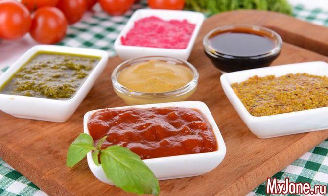 Соусы к мясным, рыбным, овощным блюдам