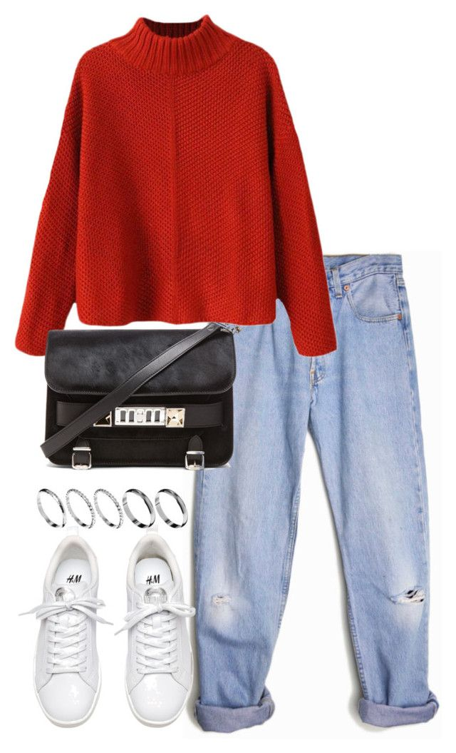 """""""Untitled #4122"""" by theeuropeancloset ❤ liked on Polyvore featuring Levi's, Proenza Schouler and ASOS"""
