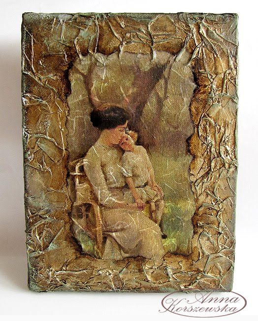 DIY - Stary obraz http://annakorszewska.blogspot.com/2010/06/obraz-w-ramach-kursu-do-szkoki.html