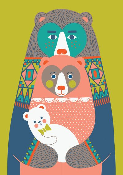 Baby Bear Art Print by Katleuzinger