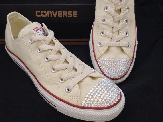 d9add0c2ecca Wedding Converse Canvas Ivory Taupe Beige Cream Unbleach Low ...