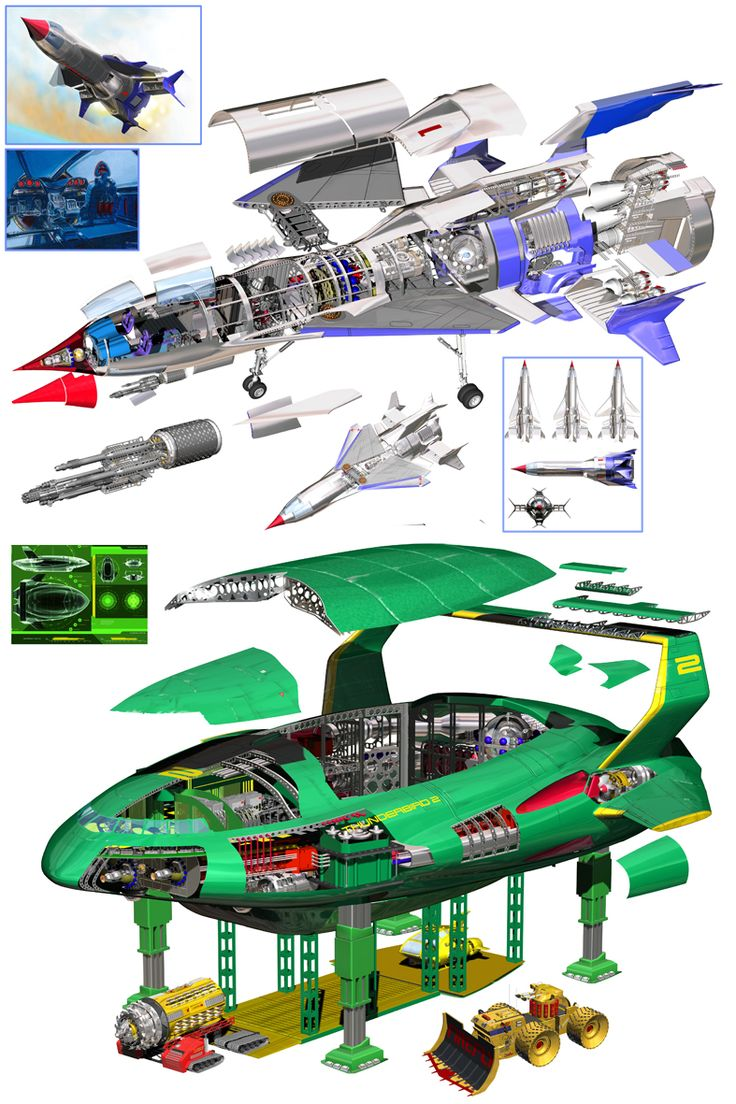 Thunderbird 1 and 2 from Movie.jpg (787×1181)