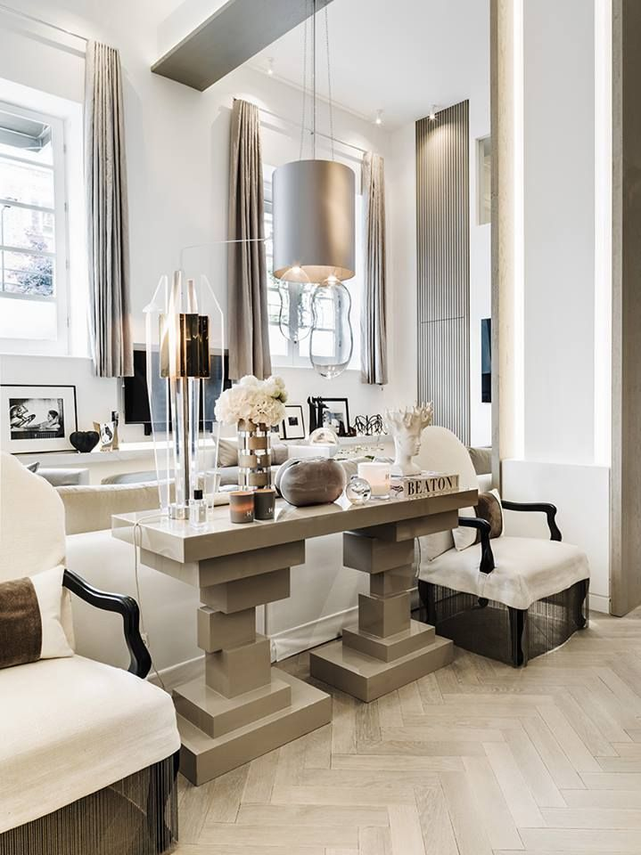 East meets West. Kelly Hoppen Interiors #design #dark #darlings…