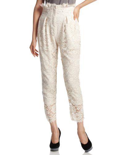 Amazon.co.jp: (スナイデル)snidel レースタックハイウエストパンツ: 服&ファッション小物