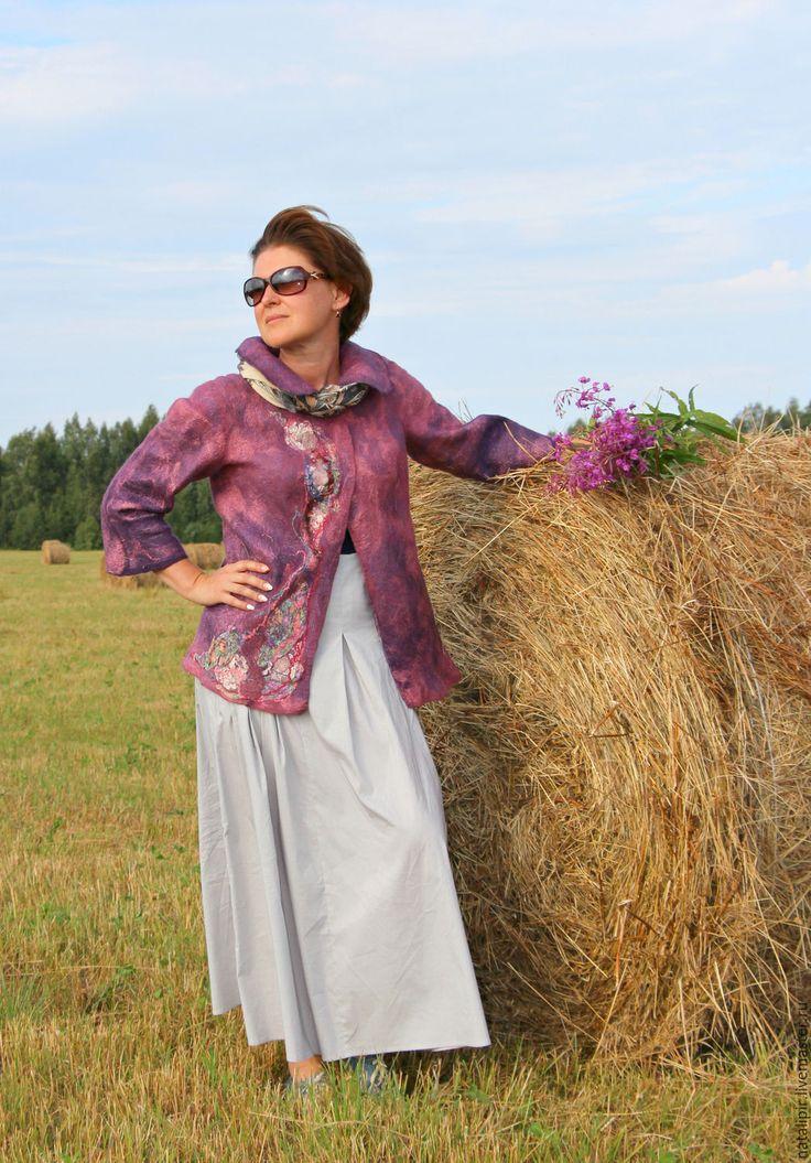 Купить Кипрей - женская одежда, валяние из шерсти, фуксия, подарок на любой случай, теплая одежда