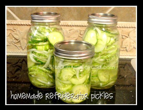 Homemade Refrigerator Pickles | Recipe - Jam and mermeladas | Pintere ...