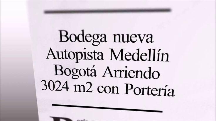Bodega Autopista Medellín Bogotá Cerca de Aeropuerto 3024 m2 Arriendo