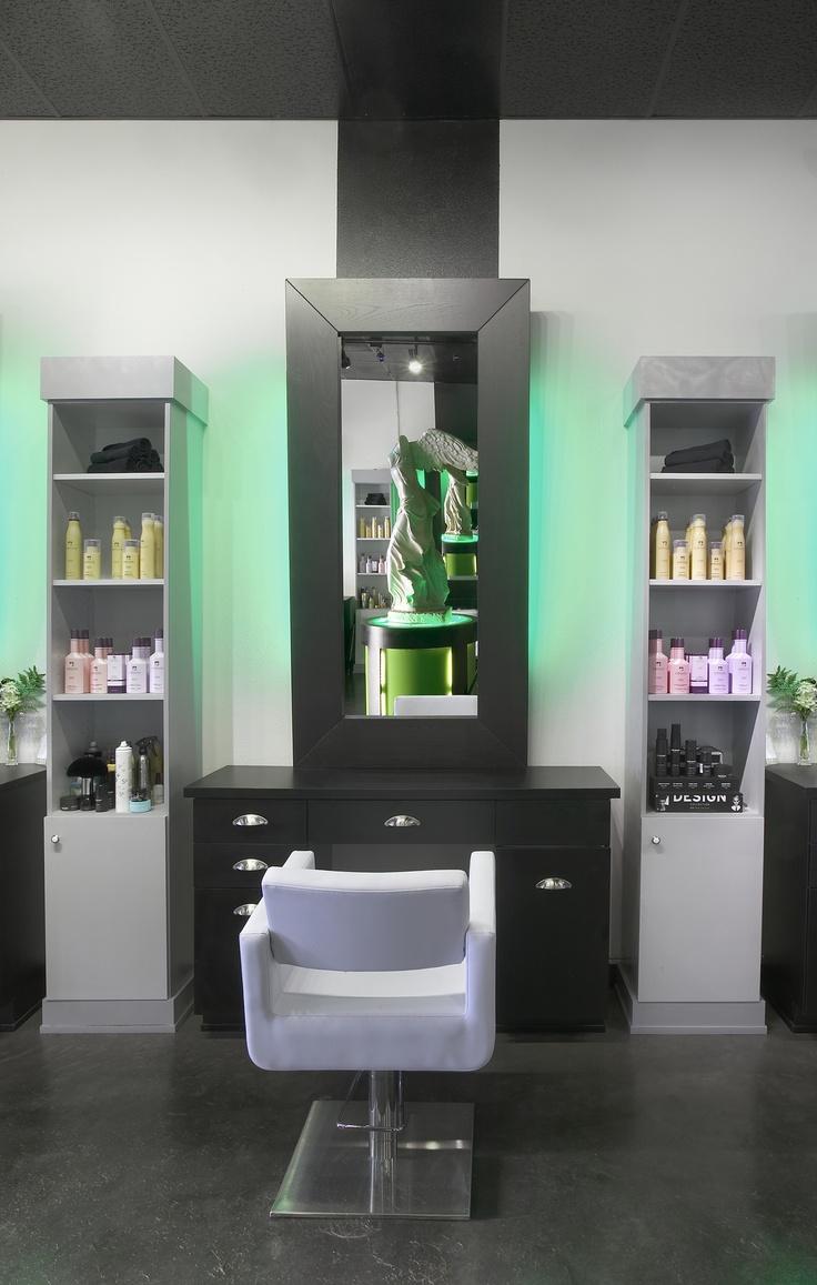 Modern Salon Station Closeup