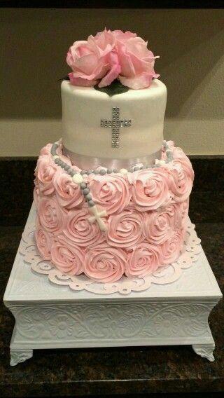 Hermoso pastel para bautizo