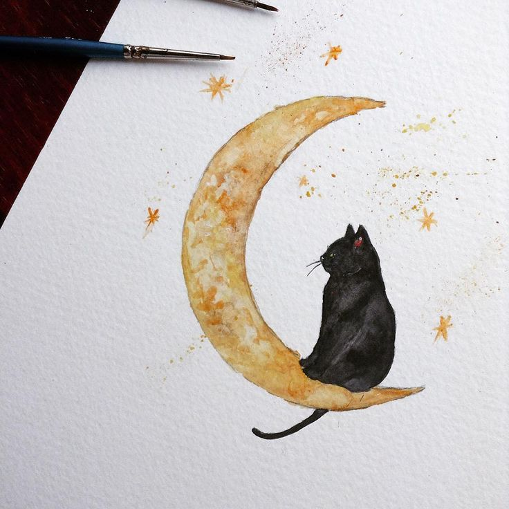 The month of Halloween is here! Of course I had to celebrate by honouring the iconic lucky Black Cat! . For sale now on LambLittleShop on Etsy!  #instadaily #cute #love #life #flower #flowers #instaillustration #illustration #illustrator #nature #paint #painting #draw #drawing #sketch #sketching #widlife #animal #halloween #spooky #watercolour #sketchbook #scary #vegan #kitten #art #night #cat