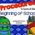 It's the beginning of school, and it's time to teach all those procedures that will make your classroom run smoothly throughout the year. Freebie Include...