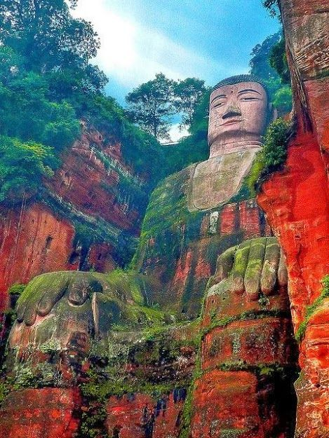 Leshan Giant Buddha in Leshan, China.