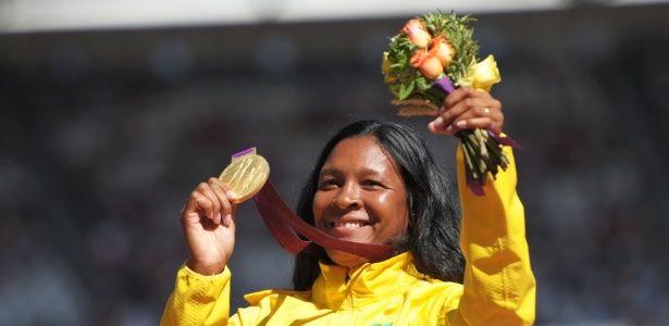 Shirlene Coelho - medalha de ouro - lançamento de dardo - Foto: Dennis Grombkowski/Getty Images