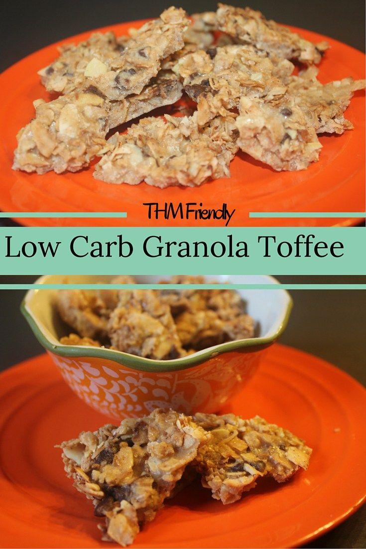 Low Carb Granola Toffee (Gluten Free, Grain Free, THM Friendly)