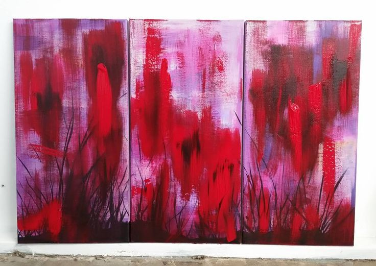 Latest work...'Dusk'. A vibrant  3-piece in reds, lavender and shadowy  black. - - -  #abstractart  #painting #abstractpainting #redandblack #artofsej #vibrantart #contemporaryart  #triptych #instaartist #instaart #australianartist #ipswichart ##canvaspainting #canvasart #colorfulart #abstractartist #landscape #artforsale #artoftheday #scarletburke