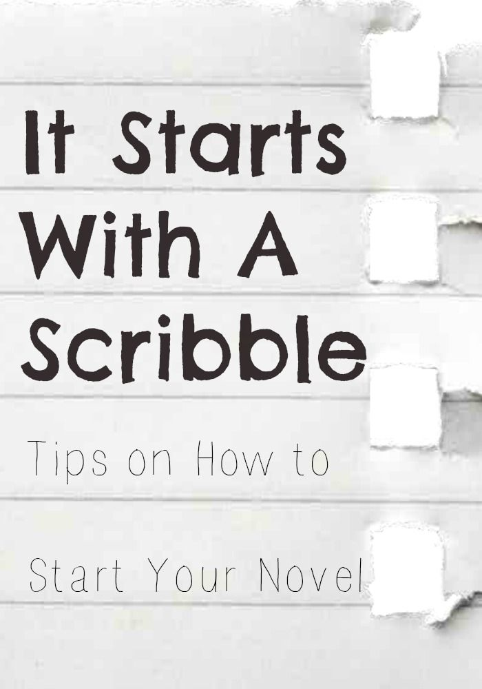 how to start writing a novel pdf