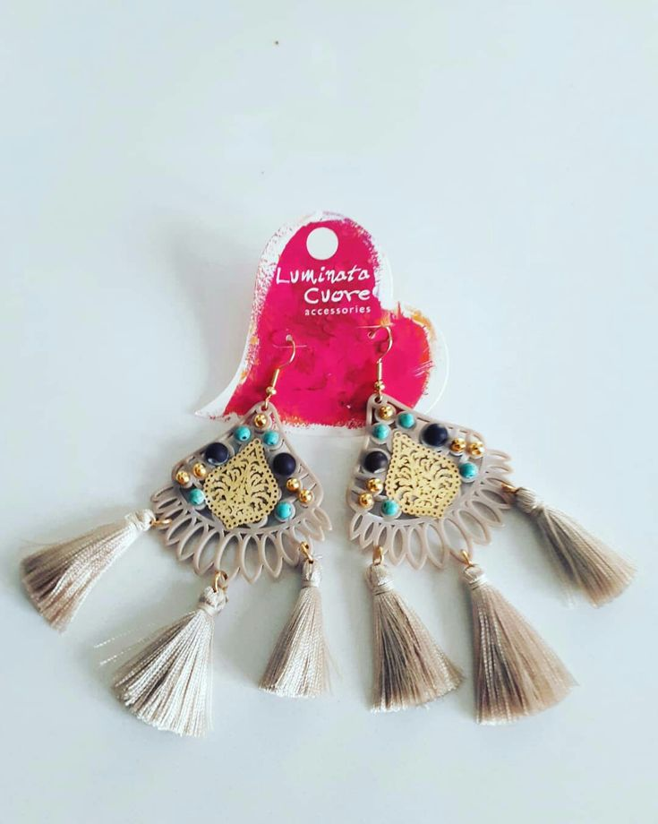 Earrings of the day hand made by luminata cuore ❤