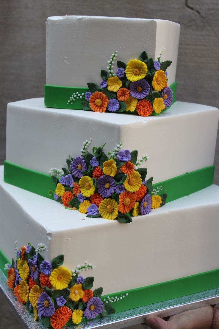 Wild Flower Wedding Cake