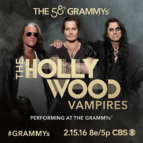 Tune in to CBS on Feb. 15 to see The Hollywood Vampires with Alice Cooper, Johnny Depp and Joe Perry rock the stage at the 58th GRAMMYs!