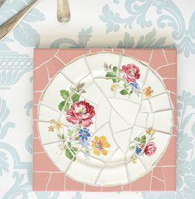Make French mosaics,  the PROPER way (hint:  No hammer involved!) here