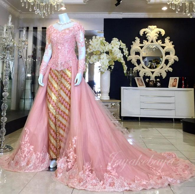 Wedding+dress+kebaya+pink+2016.jpg (661×657)