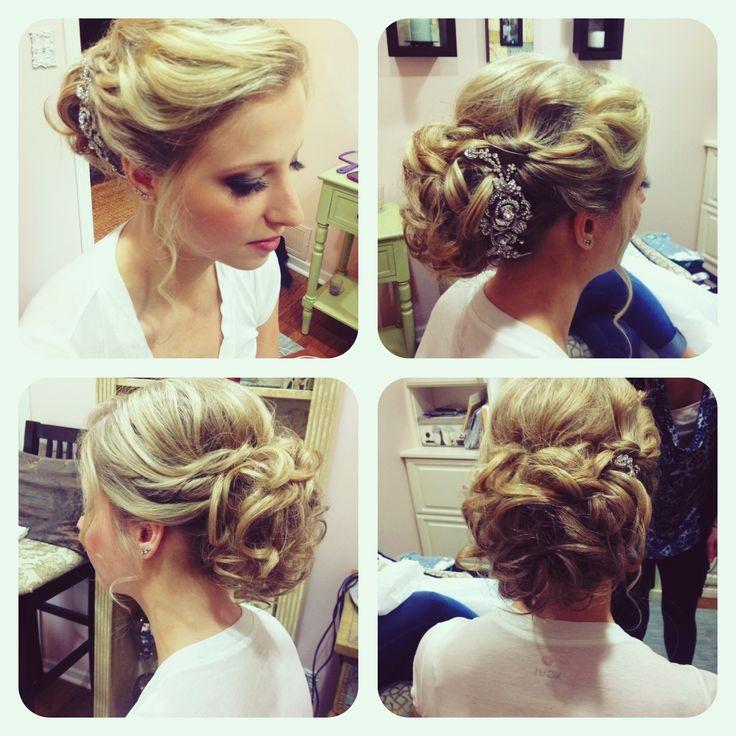 23 Evergreen Romantic Bridal Hairstyles: Wedding Bridal Hairstyle Updo Bridesmaid Soft Romantic