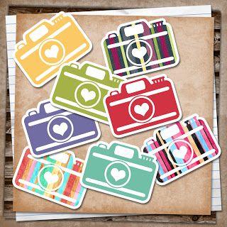 free printables: Cameras for smash books, project life, cards etc...