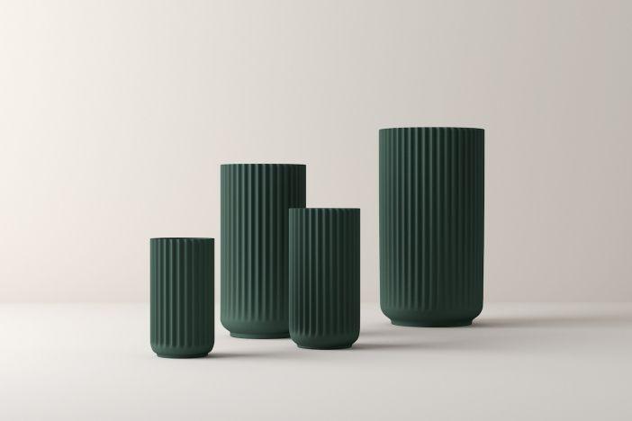 Vase Porzellan Copenhagen Grün 15 cm Lyngby Porcelæn
