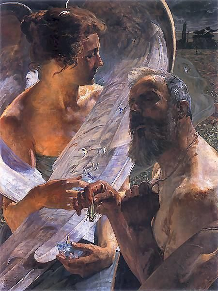 Jacek Malczewski: Resurrection. The symbols used by symbolism  are not the familiar emblems of mainstream iconography but intensely personal, private, obscure & ambiguous references.