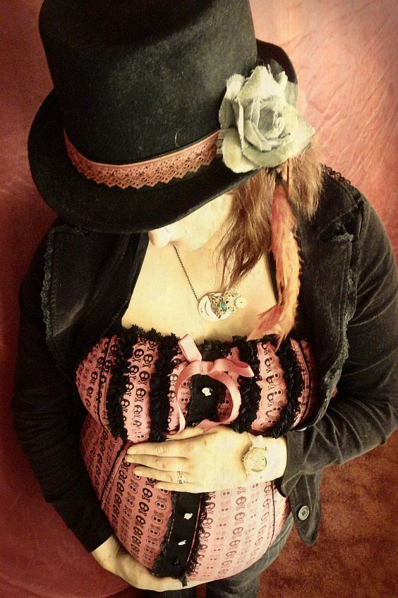 Steam punk inspired maternity photoSteampunk