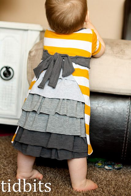 Kids dresses made from old t shirts! I have made 2 so far and they are very cute.